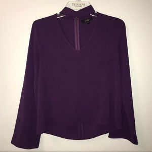 Long Sleeve Choker Blouse